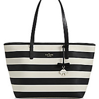 Kate Spade New York - Hawthorne Lane Striped Faux-Leather Tote - Saks Fifth Avenue Mobile