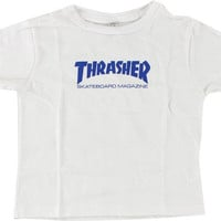 Thrasher Mag Logo Toddler Tee 4t White/royal
