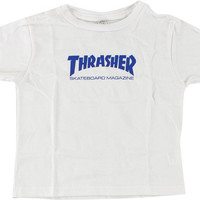 Thrasher Mag Logo Toddler Tee 5 6t White/royal