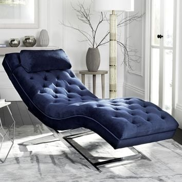 Safavieh Monroe Navy Chaise | Overstock.com Shopping - The Best Deals on Living Room Chairs
