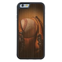 Case: Baseball Season Carved® Cherry iPhone 6 Bumper Case