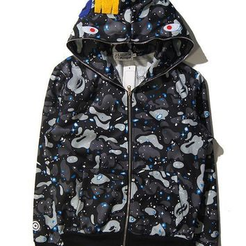 Bape Winter Casual Hoodies Unisex Jacket [9511603975]