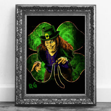 Leprechaun Horror Movie Lowbrow Wall Art