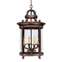 World Imports 579725 Model 1604-63: French Country Influence French Bronze Four-Light Hanging Lantern