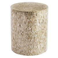 Capiz Round Drum Accent Table
