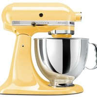 KitchenAid KSM150PSMY Artisan Series 5-Qt. Stand Mixer with Pouring Shield - Majestic Yellow