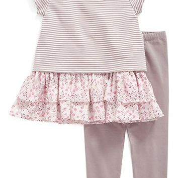 Pippa & Julie Stripe Tee, Sleeveless Top & Leggings Set (Toddler Girls, Little Girls & Big Girls) | Nordstrom