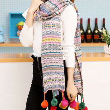 Aztec Tribal Ethnic Winter Warm Scarf Shawl