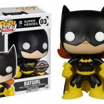 Pop! Heroes Batgirl DC Comics Super Heroes Vinyl Figure NIB FUNKO 03 Gamestop Exclusive