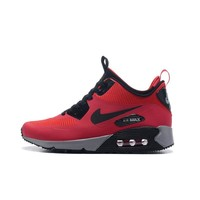 Best Deal Online Nike AIR MAX 90 UTILITY Retro Men Running Shoes Black White Red