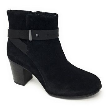 DCCKAB3 Clarks Enfield Sari Black Suede Leather Boots