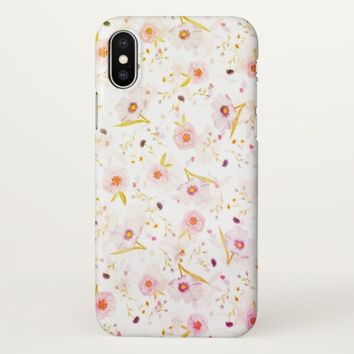 Claire Blossom natural flower pink&white iPhone X Case
