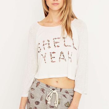 Minkpink Shell Yeah Cropped T-shirt - Urban Outfitters