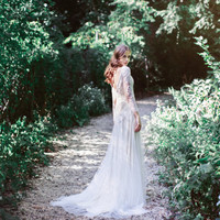 Two-Piece ivory lace and tulle wedding gown: Edison