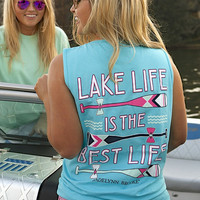 Jadelynn Brooke Tank- Lake Life is the Best Life