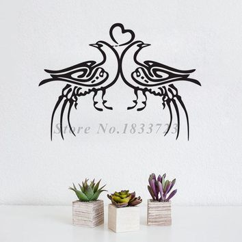 Islamic Birds Wall Stickers Calligraphy Vinyl Removable Home Decoration Wall Decals Muslim Allah Bedroom Sticker