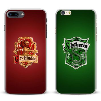 Harry Potter Hogwarts Gryffindor Slytherin Houses For Apple iPhone 7 6S 6 Plus 5 5S SE 4 4S Mobile Phone Case Cover Shell Bag