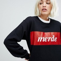 Adolescent Clothing Merde Sweatshirt at asos.com