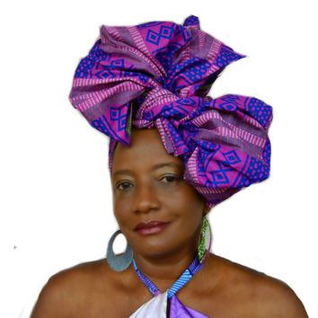 Queen Kente Print HeadWrap