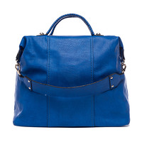 Cobalt Large Top Handle Bag by Pink Cosmo