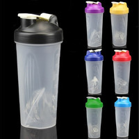 600ML Smart Shake Gym Protein Shaker Mixer Cup Blender Bottle Drink Whisk Ball MON [8323046401]
