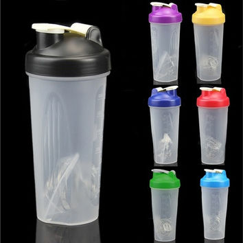 600ML Smart Shake Gym Protein Shaker Mixer Cup Blender Bottle Drink Whisk Ball MON [8833972812]