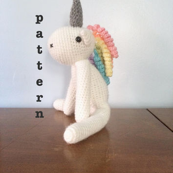 PATTERN Crochet Unicorn Pattern - Amigurumi Patterns - Crocheted Animal Pattern - Stuffed Animals - Unicorn Plush - Plushy Patterns