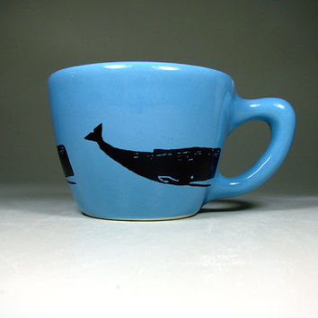 12oz cup whale (dodger blue) - Made to Order / Pick Your Colour