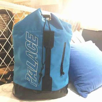 Palace New fashion bag women and men backpack Bucket bag Blue