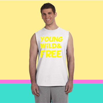 Young Wild and Free Design 4 Sleeveless T-shirt