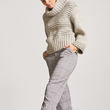 Glen Plaid Capri Pants