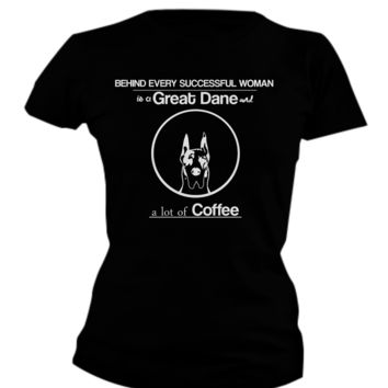 Women with a Great Dane and Coffee! great-dane