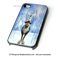 Frozen Sven And Olaf iPhone 4 4S 5 5S 5C 6 6 Plus Case , iPod 4 5 Case , Samsung Galaxy S3 S4 S5 Note 3 Note 4 Case , and HTC One X M7 M8 Case