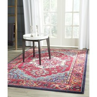 Safavieh Monaco Red/ Turquoise Rug (6'7 x 9'2) | Overstock.com Shopping - The Best Deals on 5x8 - 6x9 Rugs