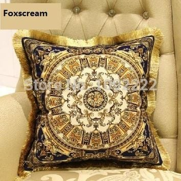 gold cushions velvet brand Luxury Pillow cushion Decorative silk decorative pillow silver throw pillows european cushion cover