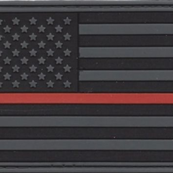 PVC SUBDUE THIN RED LINE FLAG PATCH