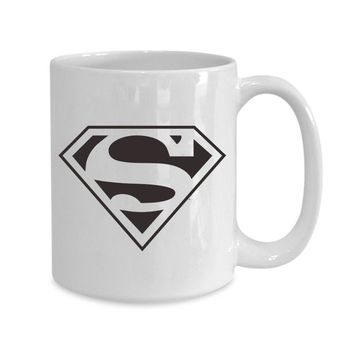 SuperMan Coffee Mugs Printed Cups  (Color: White)