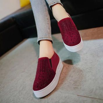 ESBONG Hot Deal On Sale Stylish Comfort Hot Sale Casual Winter Vans Thick Crust Shoes Flats Sneakers [9432943306]
