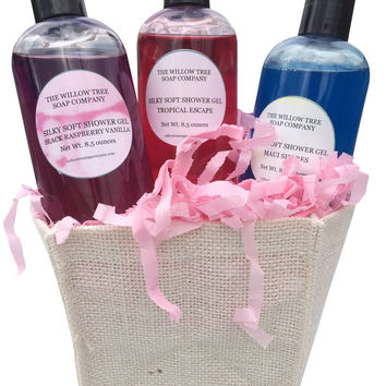 Silky Soft Shower Gel Gift Basket