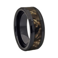 Fall Camouflage promise ring and wedding ring
