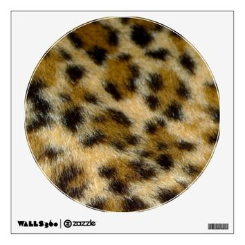 Leopard Fur Print Polka Dot Movable Wall Decal