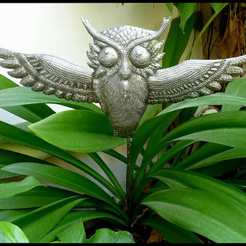 Metal Plant Stake - Owl - Outdoor Garden Decor - Metal Plant Marker, Plant Stick, Garden Decor, Yard Art. Garden Markers - PS-1802