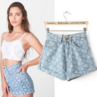 2016 summer new womens high print shorts european and american style shorts free shipping !