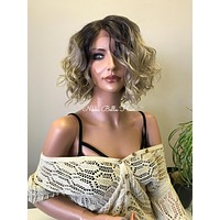 Ash Blonde Balayage Lace Front Wig - Melissa