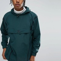 adidas Originals Chicago Pack Taped Anorak In Green BR5077 at asos.com