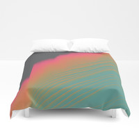 Sunset Tide Duvet Cover by DuckyB