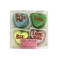 Candy Hearts Cake Bites