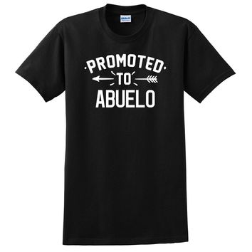 Promoted to abuelo  pregnancy reveal baby shower gift T Shirt
