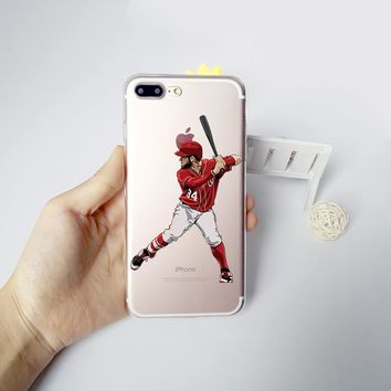MLB Baseball Phone Case for iphone 6 5s 7 6s plus 5 se Coque New York Yankees Sport Stars Golf  Silicone Soft Transparent tpu