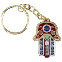 "Keychain 3.5cm-english -red ""mazal"""